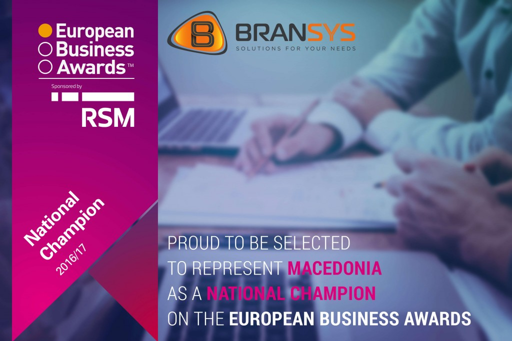 national champion european business awards 2016/2017 bransys macedonia